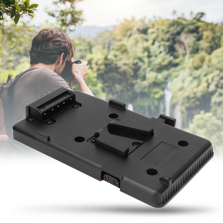 Bateria Back Pack Placa Adaptador para Sony V Mount-V-Bloqueio Da Bateria Da Bateria Da Placa Para DSLR Câmera de Vídeo luz