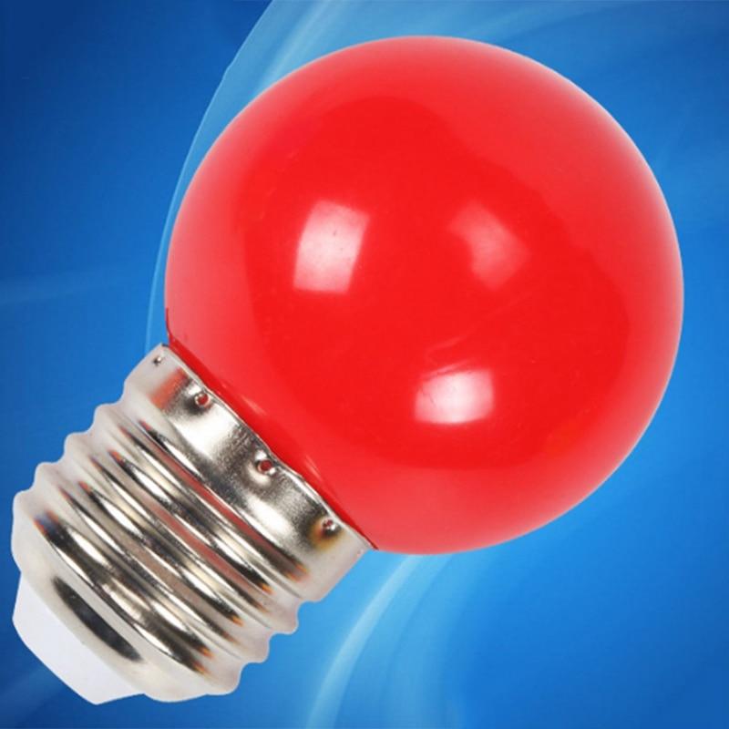 1 Pc LED light bulb color E27 screw port plastic light bulb outdoor decoration atmosphere colorful lighting energy saving lamp
