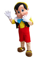 Pinocchio Cartoon Adult Mascot Costume Fancy Dress Cosplay Costumes Cartoon Character Outfit Suit Free Shipping