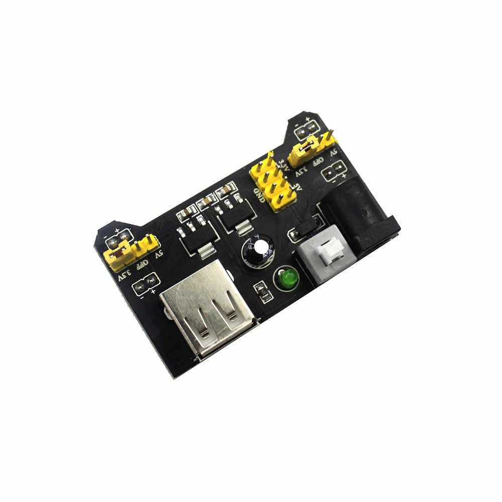MB-102 модуль 2 канальная плата MB102 DC 7-12V Micro USB интерфейс макетная плата модуль питания для arduino Diy Kit