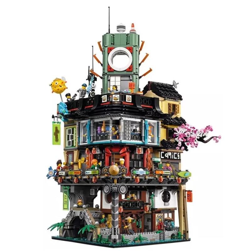 Lepin 06066 Ninjago Stadt Masters of Spinjitzu Gebude Blocks Bricks Spielzeug Kompatibel LegoINGly 70620 Als weihnachtsgeschenk lepin 06066 ninja serie die ninja stadt modell bausteine set kompatibel 70620 klassische architektur haus spielzeug fur kinder
