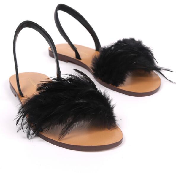 Abierto Del Carpaton De Negro Planos Pie As Pictures Mujer Roma Pictures Decoración Sexy Zapatos Dedo Amarillo Playa Pluma Verano Casuales Sandalias as Estilo xrIIqXF