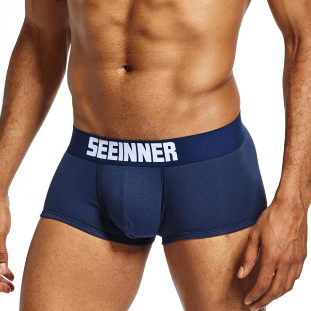 Brand Men Swimsuit 2018 Boxer Trunks Sexy Low Waist Solid Color Swimwear Men Swimming Short Swim Beach Shorts Plus Size Sunga