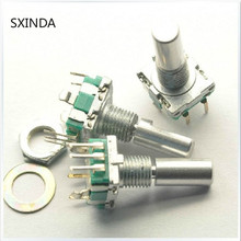 Поворотный энкодер, кодовый переключатель/EC11/цифровой потенциометр, с выключателем, 5Pin, Длина ручки 20 мм