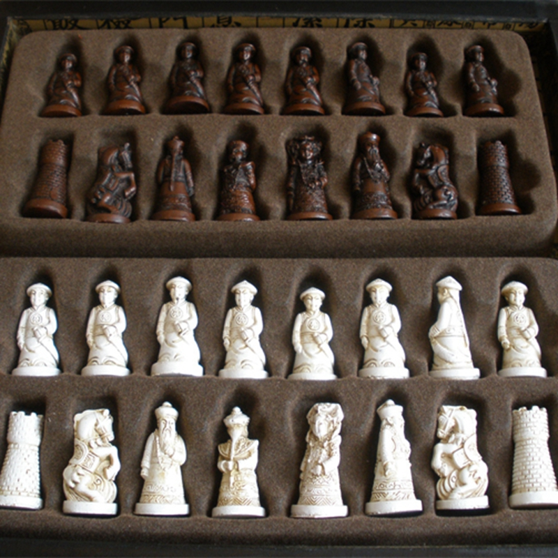 New Antique Chess Set Wooden Coffee Color Table Antique Miniature Chess Board Checker Move Box Set Retro Style Lifelike-in Chess Sets from Sports ... & New Antique Chess Set Wooden Coffee Color Table Antique Miniature ...