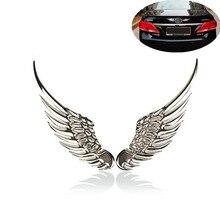 1 пара 3D стерео металлический крыло Ангела украшения наклейки для автомобилей Знак эмблема из хрома автомобиль автомобильная наклейка автомобиль 3d большие крылья автомобиля стикер