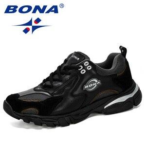 Image 3 - BONA/Новинка; Дизайнерская спортивная обувь; Мужские кроссовки; Мужская обувь для бега; Уличная спортивная обувь; Мужская теннисная обувь; Мужская обувь для бега