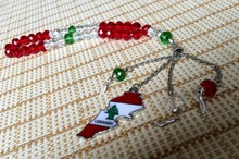 Liban map necklace pendants  lebanon map lebanese prayer rosary  gift  prayer beads