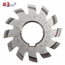 hot deal buy diameter 22mm m2 20 degree #3 involute module gear cutters hss high speed steel new machine tools accessories