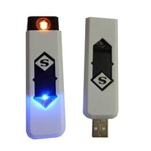 high grade Windproof Rechargeable Cigarette Lighter Flameless Cigarette No Gas e-Lighter USB Lighter ME3L