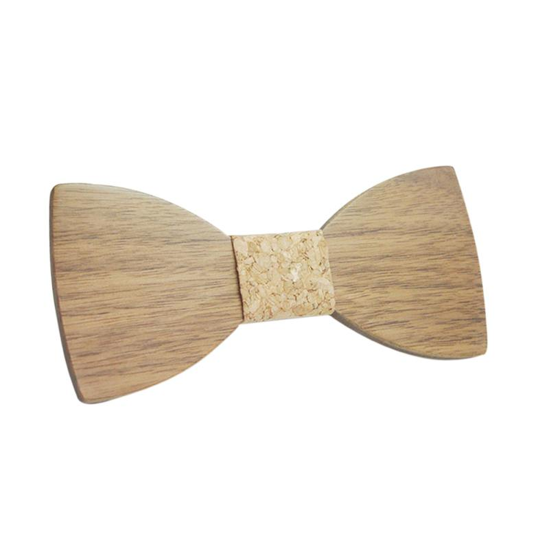 Fashion Wooden Men Bow Ties Butterfly Party Costume Decor Bowtie Accessorie