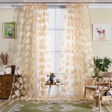 Neue 1 Stck Feder Muster Bestickt Voile Vorhnge Schlafzimmer Gardinen Wohnzimmer 4 Farben Fenster Vorhang