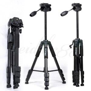 Nowy Zomei statyw Z666 profesjonalny przenośny podróży aluminiowy statyw kamery akcesoria stojak z głowicą do aparatu Canon Dslr