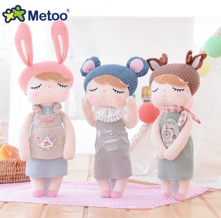 Metoo Doll 13 Inch Accompany Sleep Retro Angela Rabbit Plush Stuffed Animal Kids Toys for Girls Children Birthday Christmas Gift 13 inch baby toys for girls kids toys stuffed
