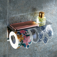 Stainless Steel Double Toilet Paper Box Wall Mounted Napkin Holder With Multifunction Bathroom Paper Holder Victor AS
