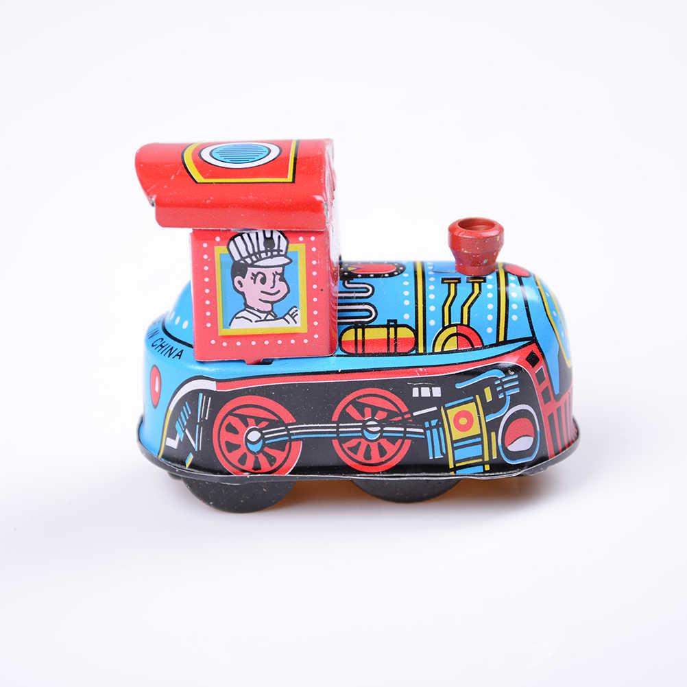 Nowy 2020 Vintage Wind Up blaszana zabawka dla dziecka dzieci dzieci Retro pociąg parowy mechaniczna wiosna lokomotywa klasyczne zabawki