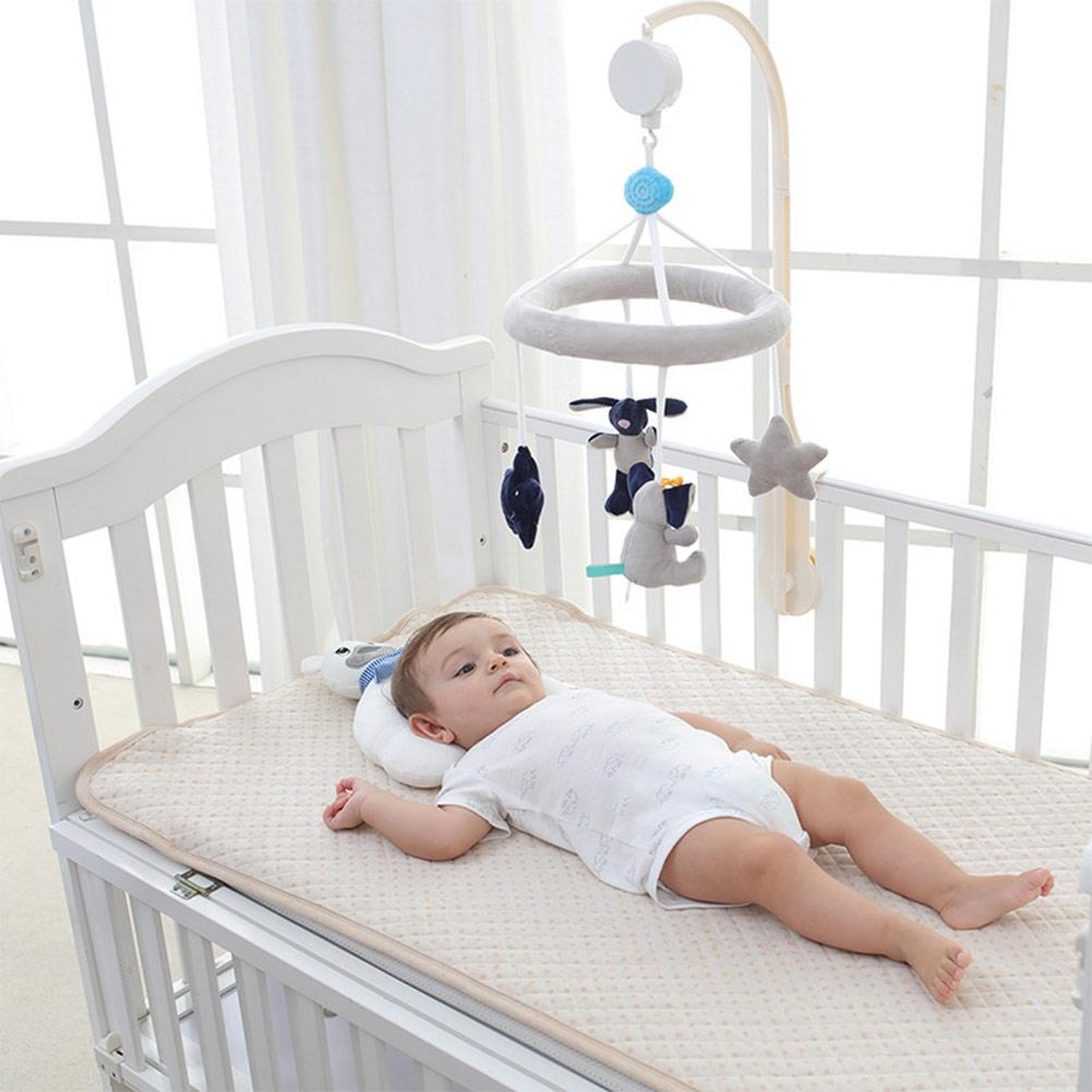 Baby Toys Baby Mobile Crib Rabbit elephant Musical Box with Holder Arm Music Newborn Rotating Bed Bell Plush Toy bed cradle musical carousel by mobile bed bell support arm cradle music box with rope automatic carillon music box without toys