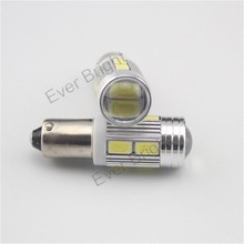 2 stks Samsung 5730 10-SMD chip BA9S, 6253, 64111 High Power LED Wit Projector Len Auto Auto Indicator Parking Lampen(China)