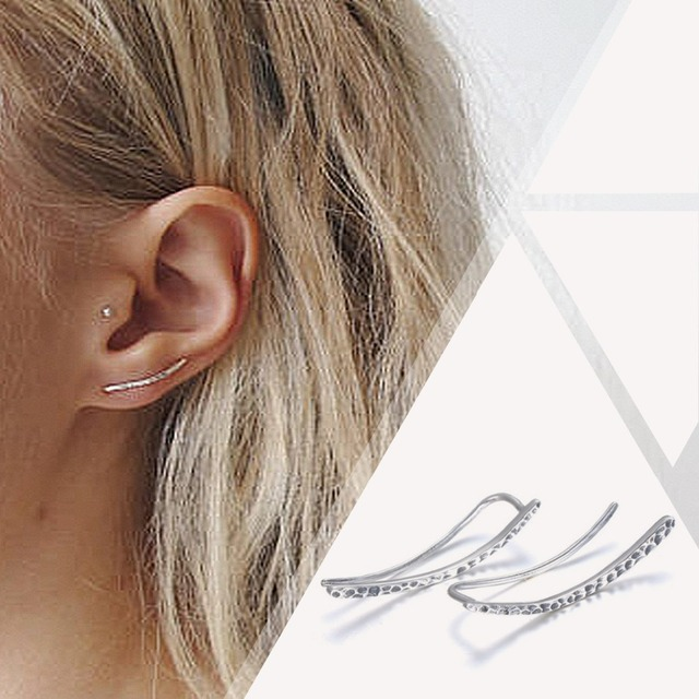 e-Manco Genuine 925 Sterling Silver Hook Earrings for Women New Design Trendy Mi