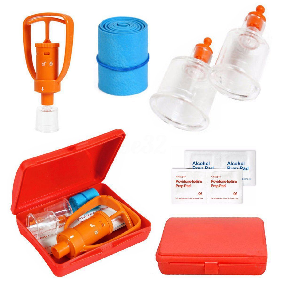 Venom Extractor Pump First Aid Safety Kit Emergency Snake Bite Outdoor Camping Survival Tool SOS