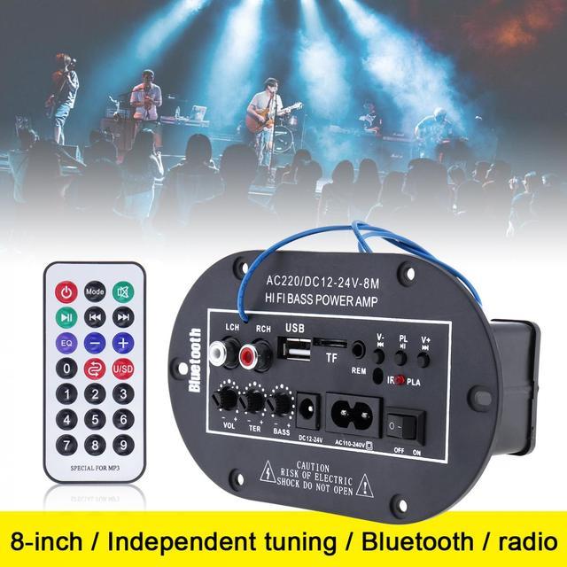 Best Offers 8 Inch 25W Universal HI-FI Bluetooth Car Audio Power Amplifier Auto FM Radio Player Support/ SD / USB / DVD / MP3 Input