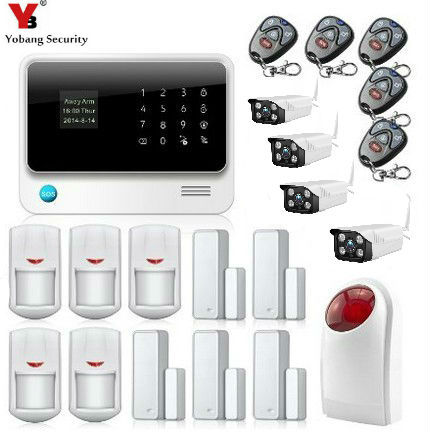 Yobang Security Home Security Alarm System With Strobe Siren Waterproof Camera GSM WIFI GPRS Intelligent Burglar Inturder Alarm yobang security wifi automation gsm alarm system home intelligent gsm gprs sms wifi security kits wifi camera red solar siren
