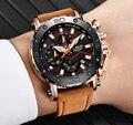 Reloj LIGE 2019 de marca de lujo para hombre, relojes deportivos de cuero analógicos, reloj militar para hombre, reloj de cuarzo con fecha para hombre masculino