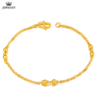 XXX 24K Pure Gold Bracelet Real 999 Solid Gold Bangle Smart Beautiful Simple Fashion Trendy Classic Party Jewelry Hot Sell New 1