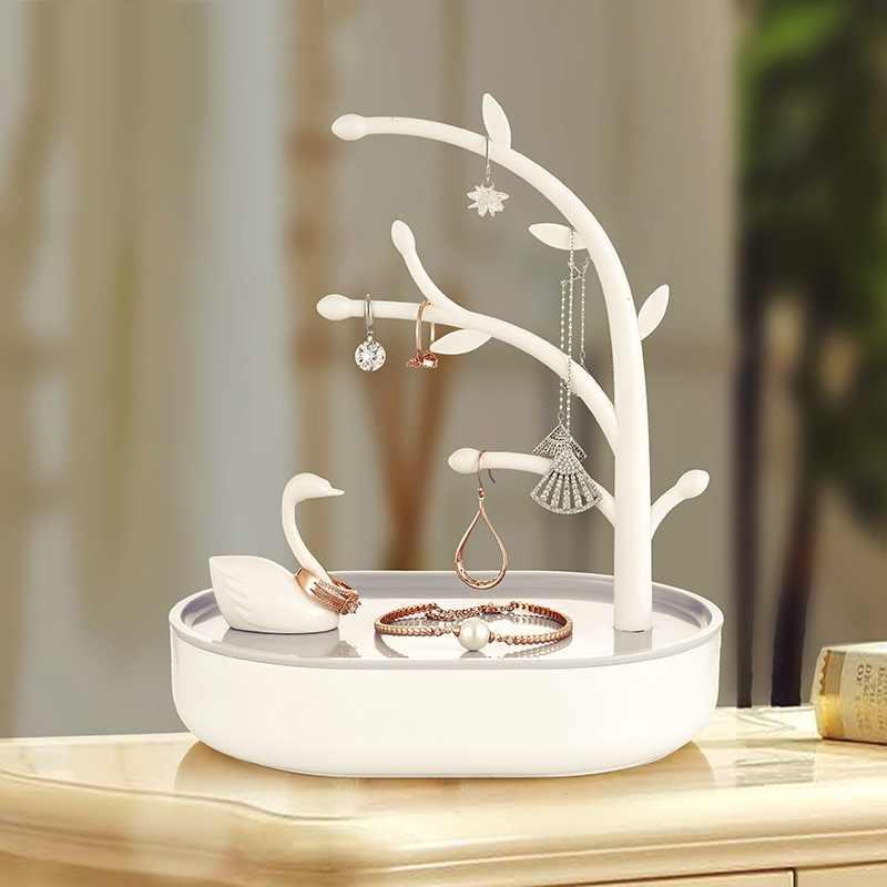 Creative עץ תכשיטי מארגן מפתחות אחסון מתלה צמיד שרשרת תיבת אחסון קולב עבור מפתחות עגילי תצוגת Stand מחזיק