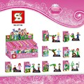SY156 Building Blocks Princess Girl Mermaid Toys Building Block toys children kids toys Xmas gift