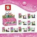 SY156 Menina Princesa Sereia Brinquedos de Blocos de Construção Bloco de Construção de brinquedos para crianças crianças brinquedos presente de Natal