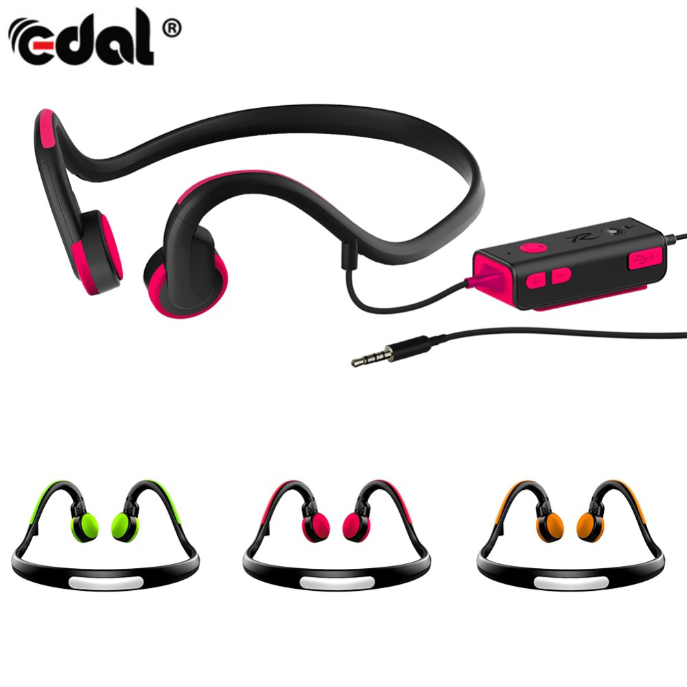 EDAL Wired Bone Conduction Earphone Headsets Sports Headphones Noise Reduction Hands-free with Mic for For iPhone Android Phone