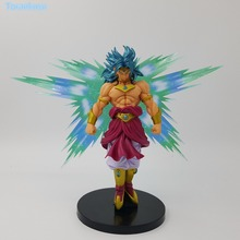 Dragon Ball Z Action Figure Broly Super Saiyan With Aura PVC Toy Anime Broli Collection Model DIY108