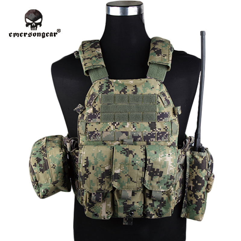 Emersongear LBT6094A Style Vest With Pouches Airsoft Painball Military Army Combat Gear EM7440F AOR2