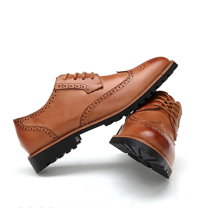 New Arrival Plus Size Vintage Leather Men's Shoes Business ...
