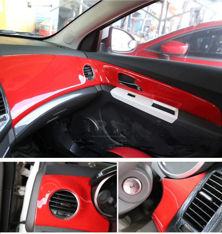 Popular Red Center Console Air Outlet Steering Wheel Gear Frame For Chevrolet Cruze 2009 10 11 12 13 14 2015 AAA077A