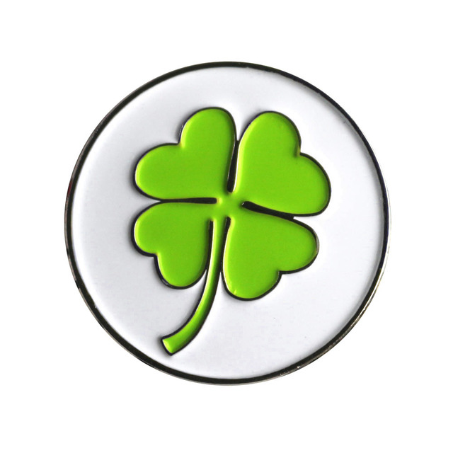 Mooie 4 Leaf Clover Golfbal Marker Golf Accessoires Pitch Markering