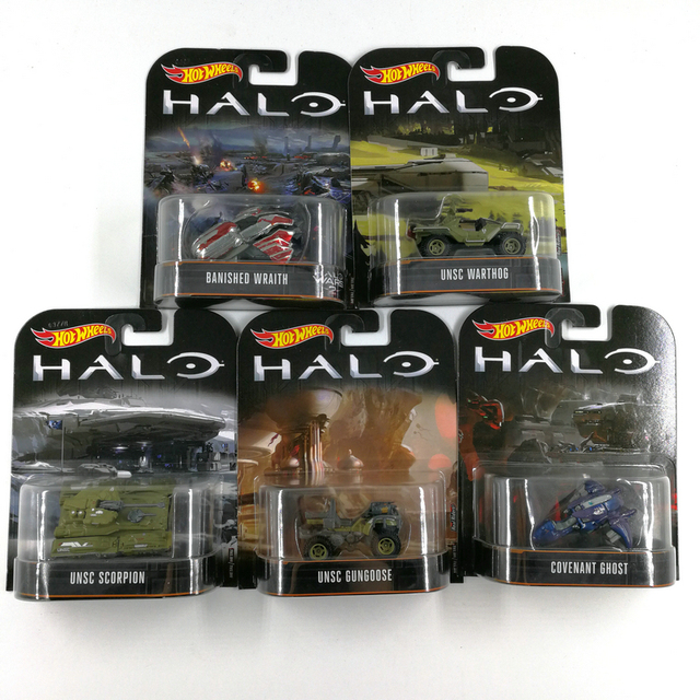 Hot Wheels Car Halo Wars Classic Movie Collector's Edition  Metal Diecast Cars Collection Kids Toys Vehicle For Gift 5pcs/set