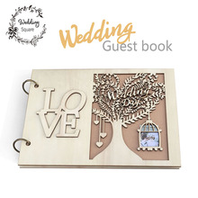 Wedding GuestBook Wooden Wedding Guest Book wedding tree  Personalised Guest Book guest
