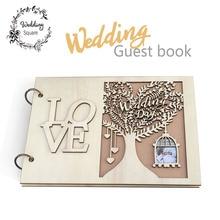 Свадебная Гостевая книга деревянная Свадебная книга для гостей Свадебная елка индивидуальная книга для гостей