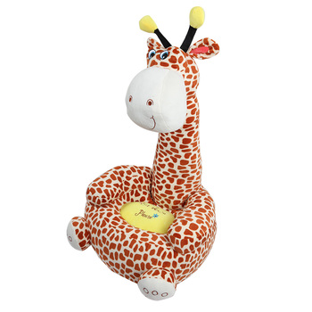 Cartoon Children Small Seat Sofa Nest Chair Giraffe Plush  1