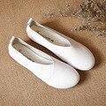 Handmade Nova Chegada do Outono Das Mulheres de Couro Macio Apartamentos Sapatos Casuais Mãe Mocassins Sapatos Femininos Sapatos Mocassins Deslizamento em Sapatas Da Enfermeira