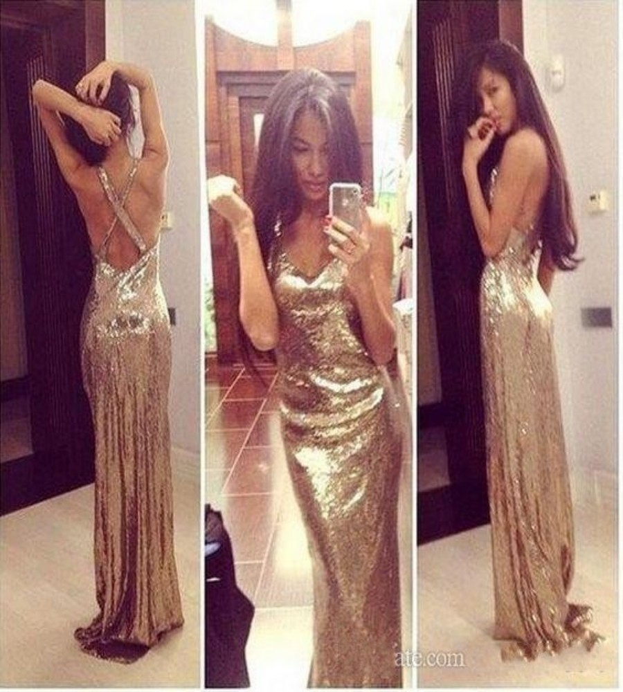 Popular Sparkly Gold Dress-Buy Cheap Sparkly Gold Dress lots from ...