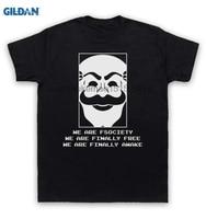 GILDAN 100 Cotton O Neck Printed T Shirt Mr Robot T Shirt We Are Fsociety We