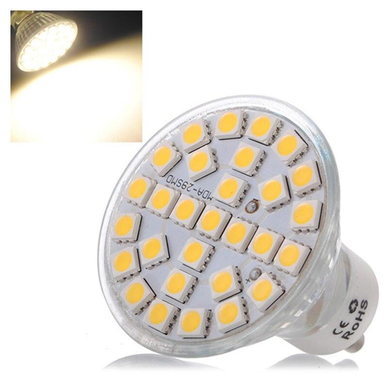 29 LED Light Bulb GU10 5W 5050 SMD Spotlight Spot Lights Bulb Warm White Energy Saving Lamp 480lm Home Lighting 220V