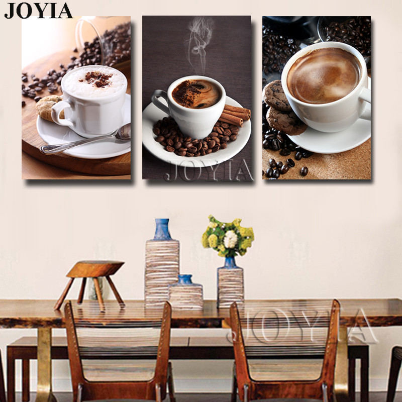 Coffee Pictures 3 Piece Art Paintings Decorative Wall Set