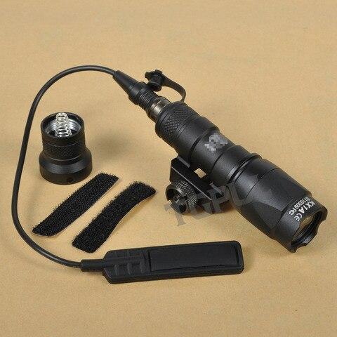 tgul sf m300c scout luz rifle ferroviario led lanterna constante saida momentanea caca spotlight weaver