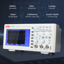 цена на UNI-T UTD2102CEX 1GSa Digital Storage Oscilloscope 7 LCD 800*480 100MHz 2Channels USB OTG interface VS Hantek