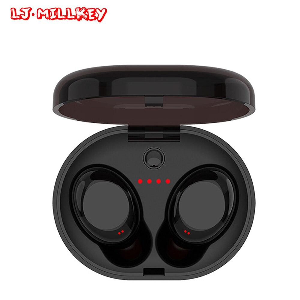 Фотография Bluetooth Touch Control Hifi Earphone with Mic TWS Wireless Earbuds Stereo MIC for Phone With Charger Box LJ-MILLKEY YZ118