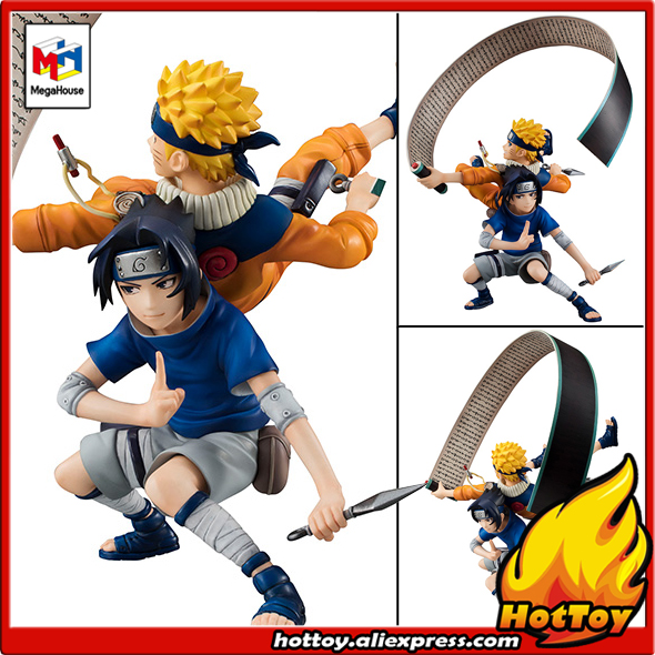 100% Original Megahouse G.E.M. Remix Complete Figure - Uzumaki Naruto & Uchiha Sasuke from NARUTO Shippuden naruto action figures uchiha obito rikudousennin sharingan pvc model toy naruto shippuden movie anime figure obito light diy69
